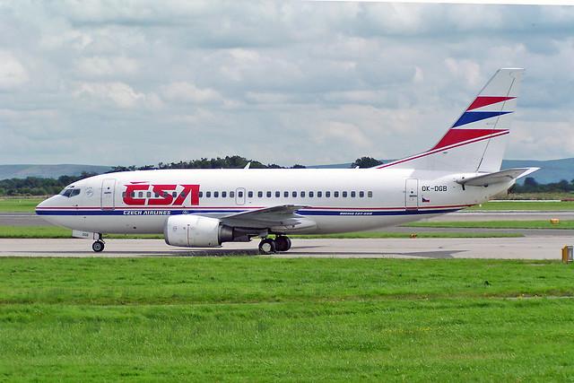 OK-DGB Boeing 737-5L9 CSA Czech Airlines MAN 15-08-04