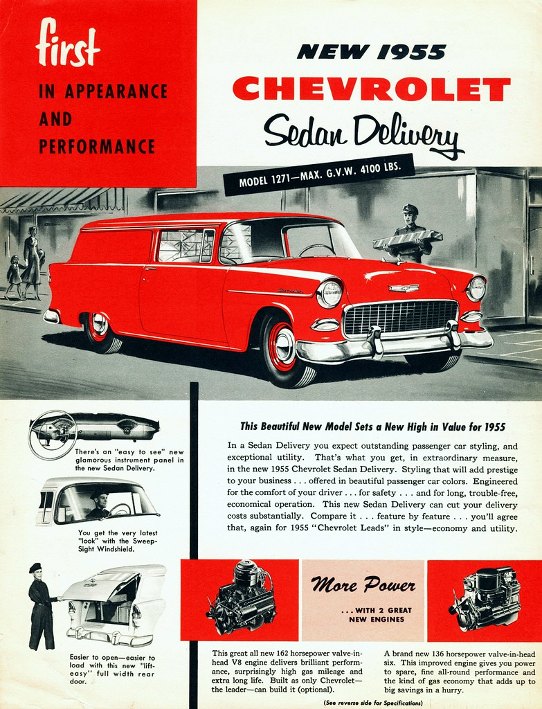 1955 Chevrolet Sedan Delivery Brochure (Canada) | All-new st