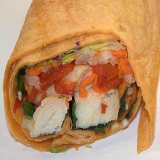 Jamba Juice - Asian Style Chicken Wrap, closeup | by Ken Kuhl