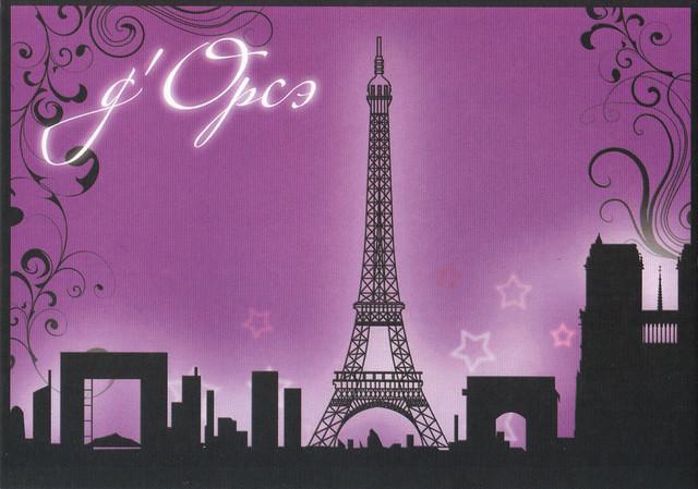 Paris Ad Postcard