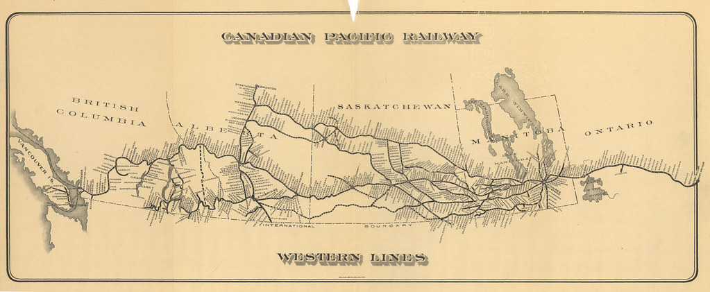 canadian pacific railroad map Canadian Pacific Railway Western Lines 1911 Bulman Bros Flickr canadian pacific railroad map