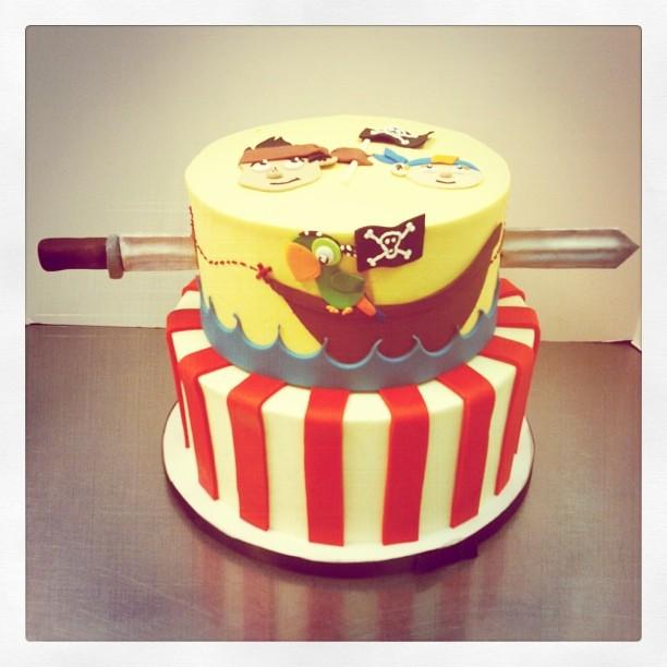 Wondrous Pirate Birthday Cake Polkadots Olga Flickr Birthday Cards Printable Inklcafe Filternl