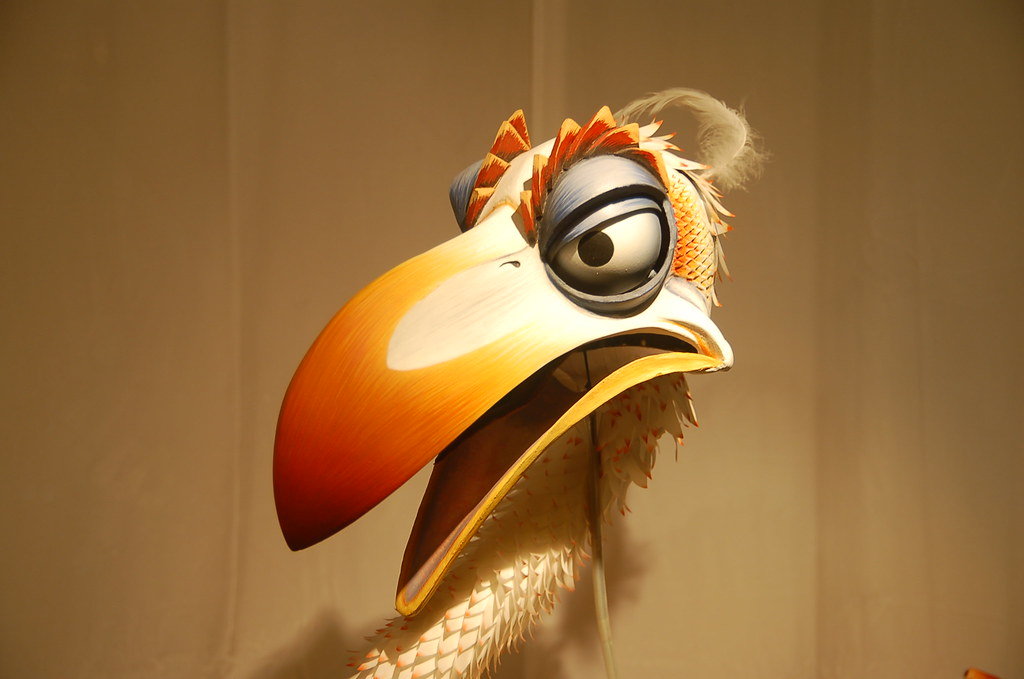 Zazu Puppet From Lion King On Display At The Kellogg Hotel