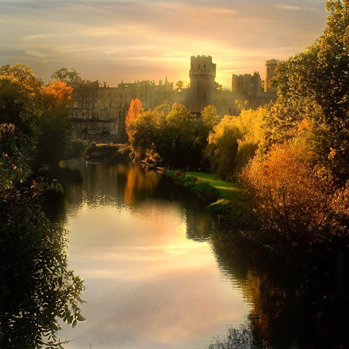 sunset england castle art beautiful fairytale spectacular ancient magic surreal atmosphere serene warwickcastle mywinners specialpicture thesuperbmasterpiece sammatta