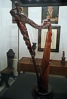 Diatonic harp (1681) by Antonio Stradivari (Cremona 1644-Cremona 1737) - Museum of Conservatoire of San Pietro a Majella in Naples