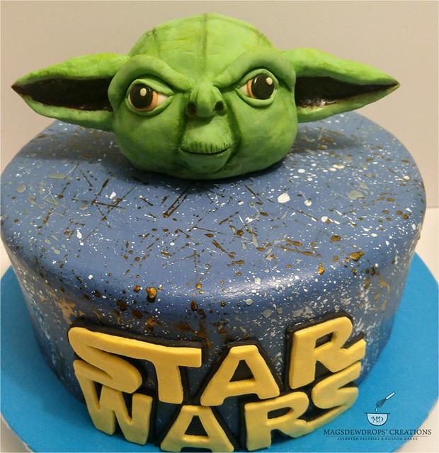 Galaxy Star Wars Theme Cake