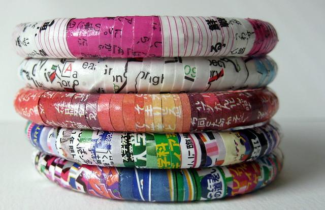 Recycled bangle stacks!