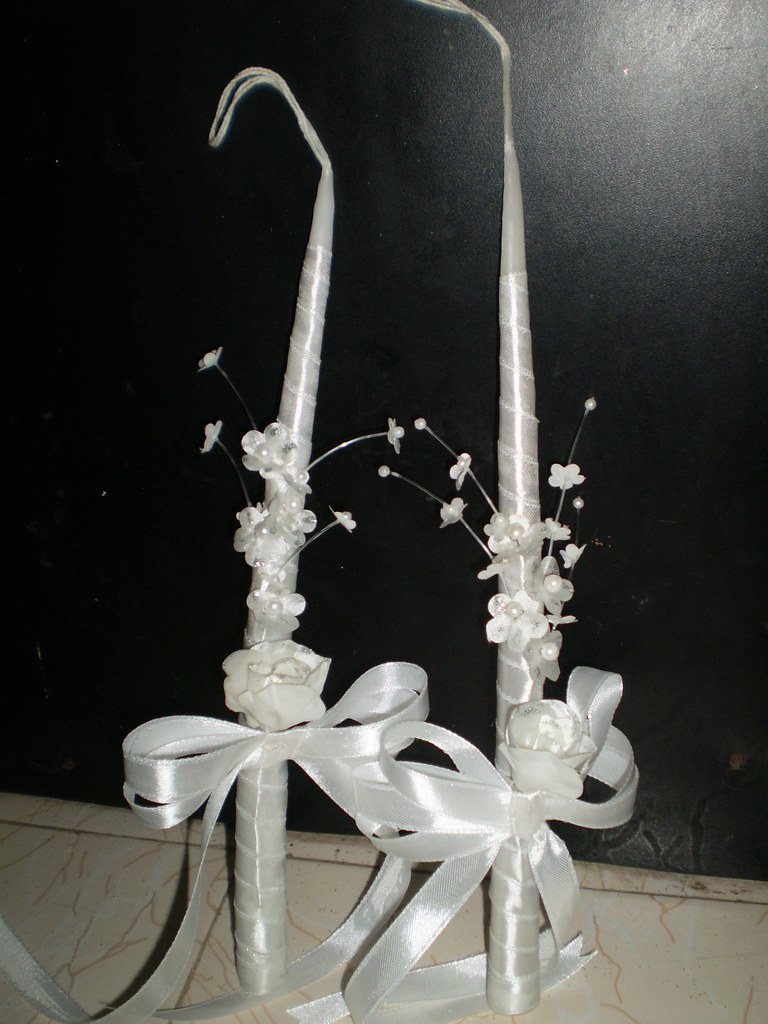 Decorated First Holy Communion Candle Rs 100 Each For G Flickr
