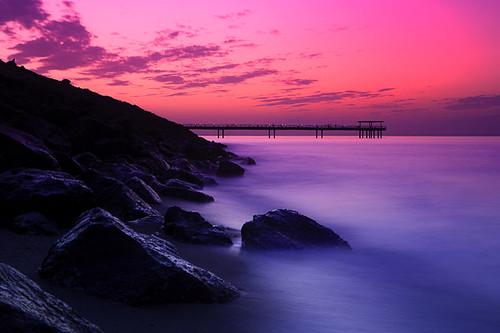 Pink Sunset Kuwait Landscape Waterscape Sunset