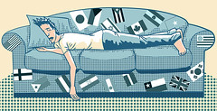 Couchsurfing | by Osvaldo Montero Ilustrador