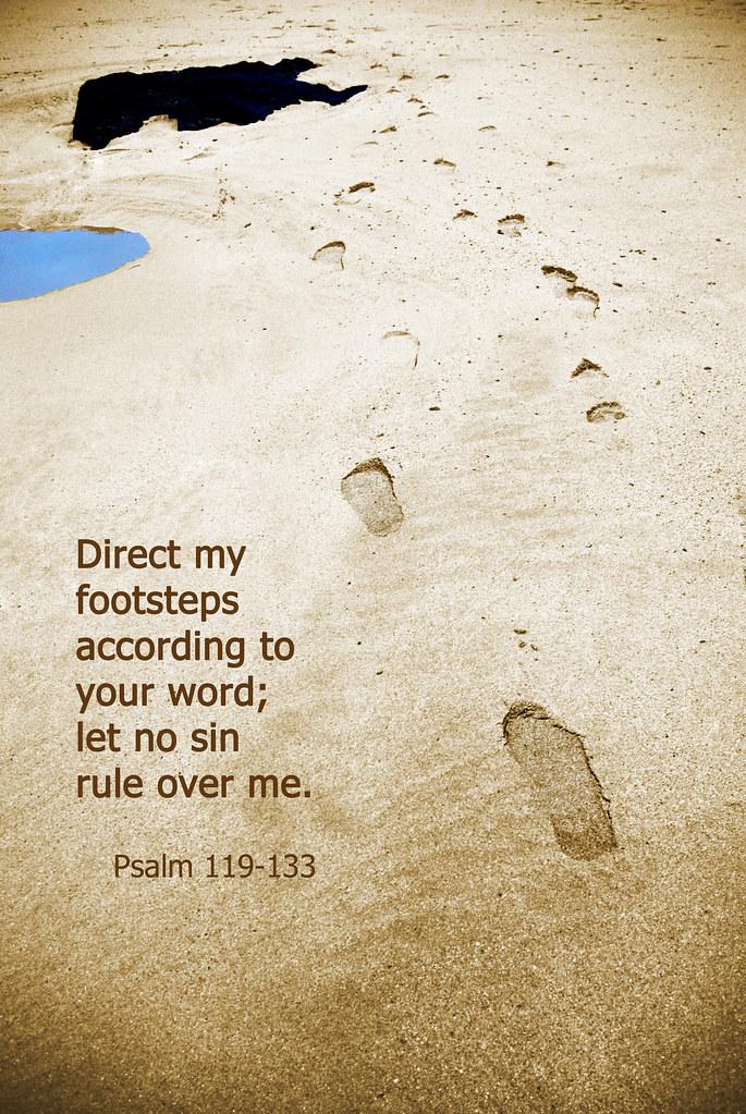 Lent - Day 38 - Psalm 119:133 (text) | ♥ Emma in Wonderland