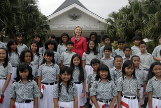 Secretary Clinton in Jarkarta With Children's Choir | by U.S. Department of State