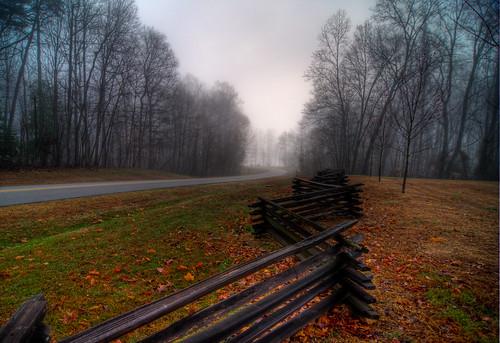 road park morning trees mist nature fog virginia vanishingpoint woods foggy wideangle tokina1224 dew potomac woodbridge quantico stateparks d300 roadways leesylvaniastatepark virginiastateparks platinumphoto dragondaggerphoto