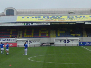 Plainmoor: The Grandstand (with TUFC in the seats)