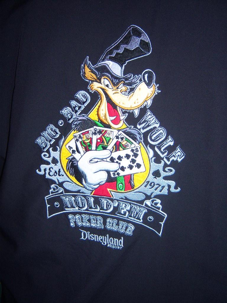 Big Bad Wolf Hold 'Em Poker Club T-Shirt - Loren Javier ...