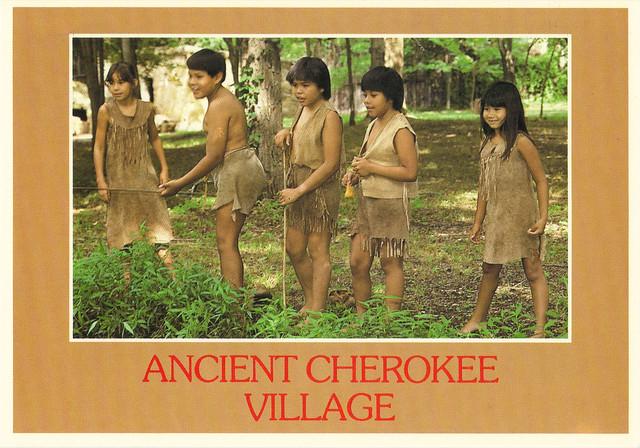 Ancient Cherokee Village Postcard