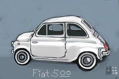 Fiat 500   by Matthew Watkins
