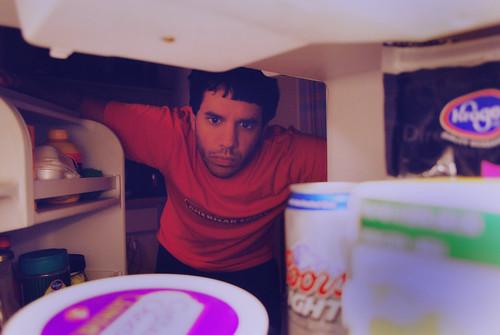 portrait selfportrait me beer self vintage fridge pov retro pointofview refridgerator 365 decisions d60 365days nikond60 365project iwentwiththebeerifyourewondering