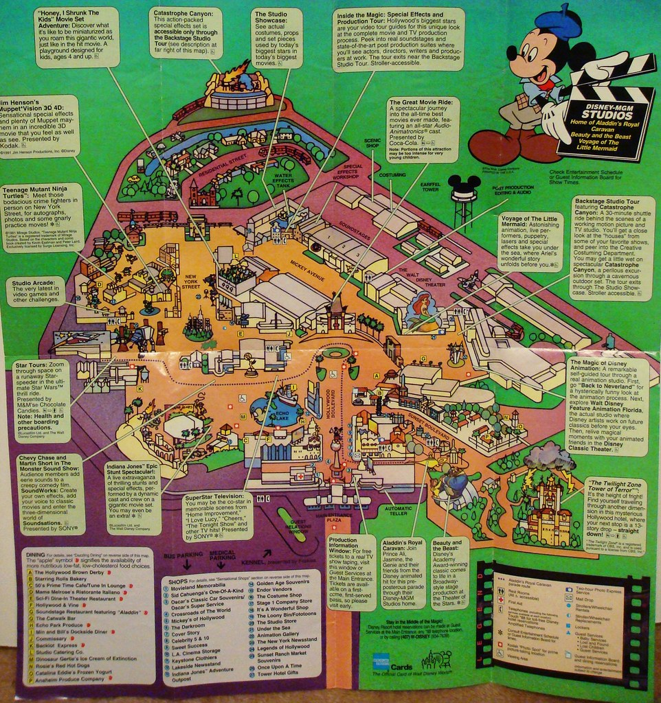 Disney-MGM Studios Tribute: Interactive Park Map 1994 | Flickr