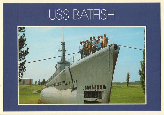 USS Batfish Muskogee Oklahoma Postcard