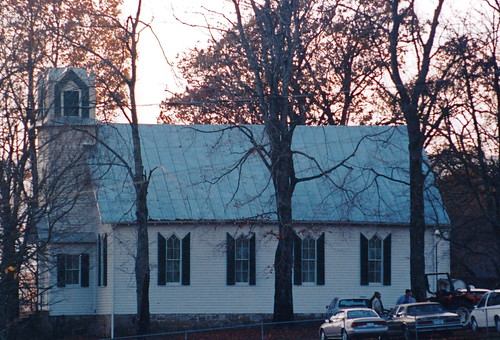 film trees sunset sky outdoor nature landscape historic evening closeup clear autumn afternoon 1999 family architecture augustacounty woods presbyterian tree virginia scanned church churches day grouped
