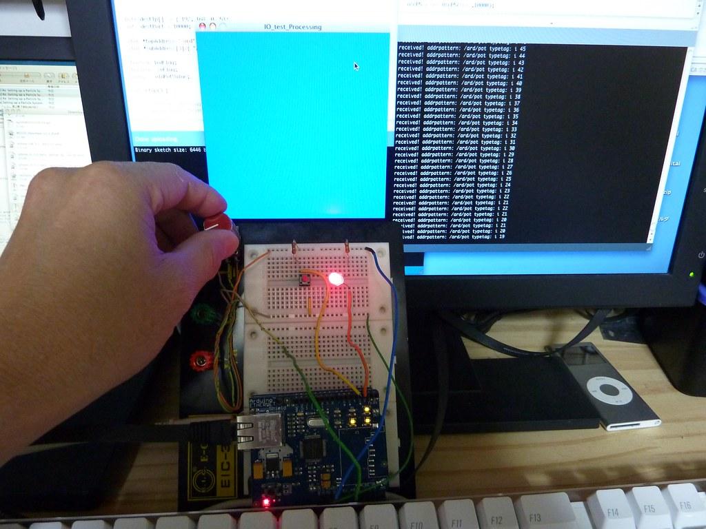 Arduino OSC Library test | Arduino pot change -> window colo