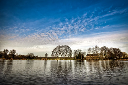 blue sky tree water amsterdam clouds reflections river landscape early spring skies thenetherlands clear 1020mm amstel amstelveen blueribbonwinner theperfectphotographer