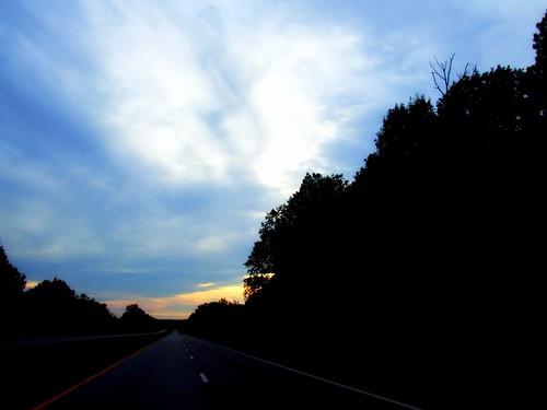 road trees sun silhouette clouds sunrise geotagged twilight highway kentucky earlymorning 2008 doublehelix picnik cloudformations i75south southeasternkentucky outofthearchives thecommonwealthofkentucky geo:lat=37498968 geo:lon=84327621 travelingtomiddlesborokentucky homeofthemostbeautifulwomenontheplanet
