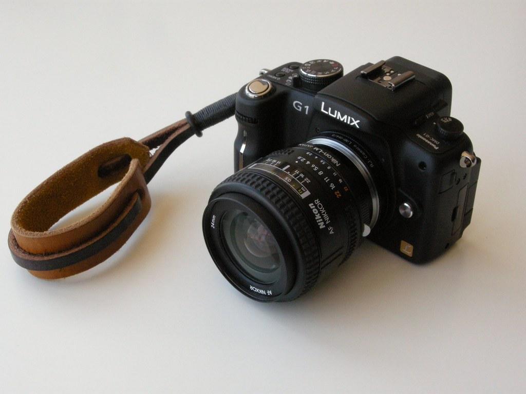 Lumix G1 with Nikon 24mm