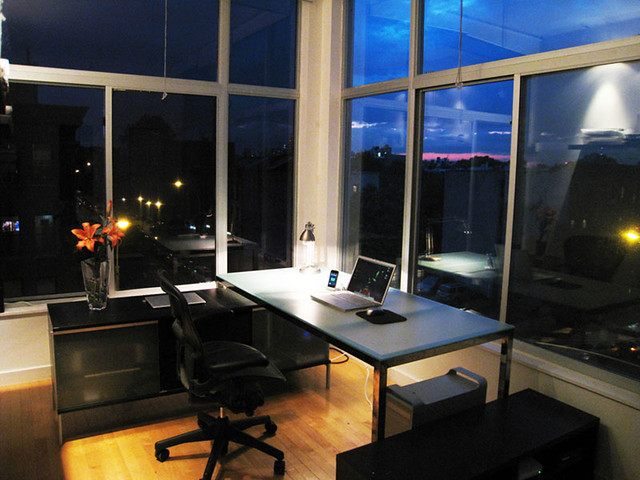 Brooklyn Home Office Minimized At Night I Ve Spent The