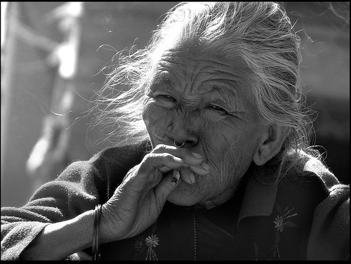 old lady from Patan(Nepal), smoking | by Sukanto Debnath