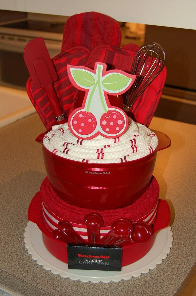 Bowl Of Cherries Kitchen Towel Cake