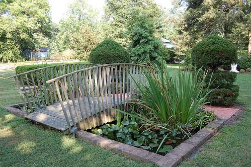 plants gardens landscape bridges ponds shrubs