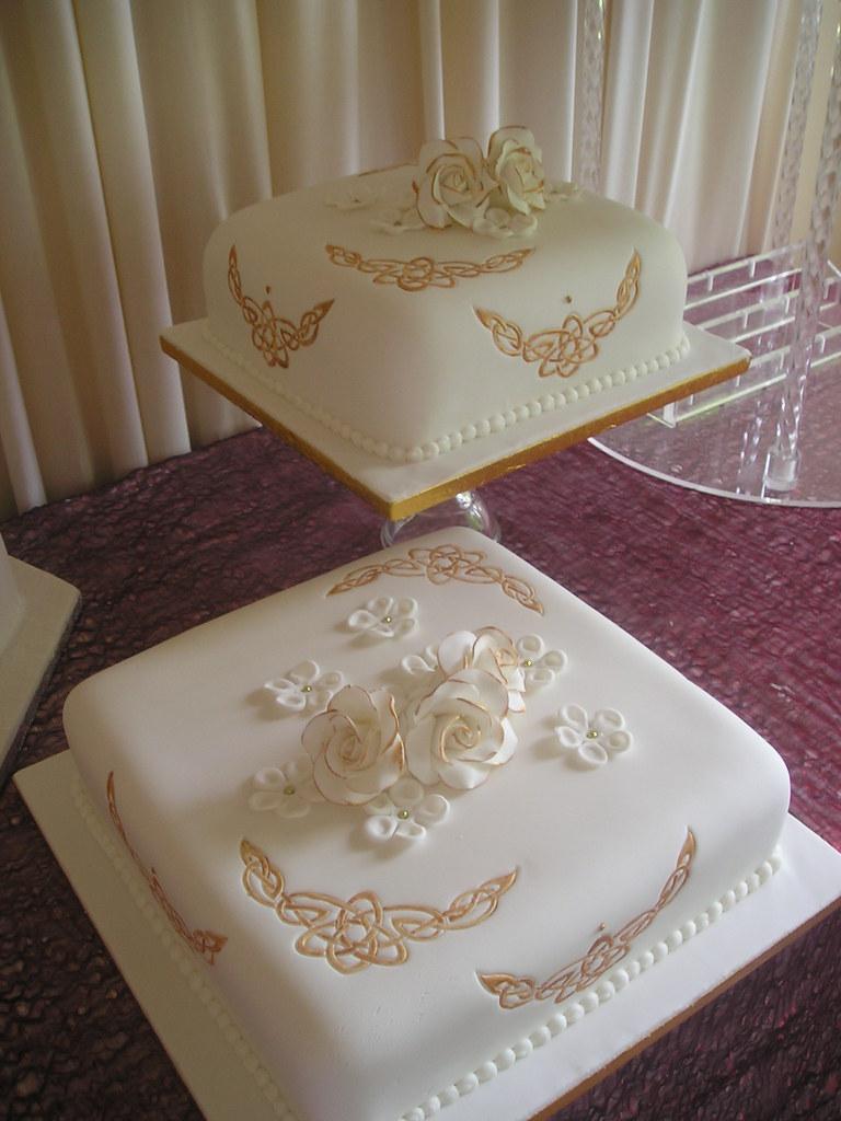 Celtic wedding cake