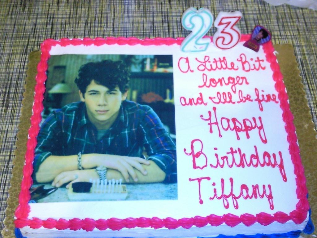 Fabulous Nick Jonas Diabetic Birthday Cake Anyfaith1986 Flickr Birthday Cards Printable Nowaargucafe Filternl