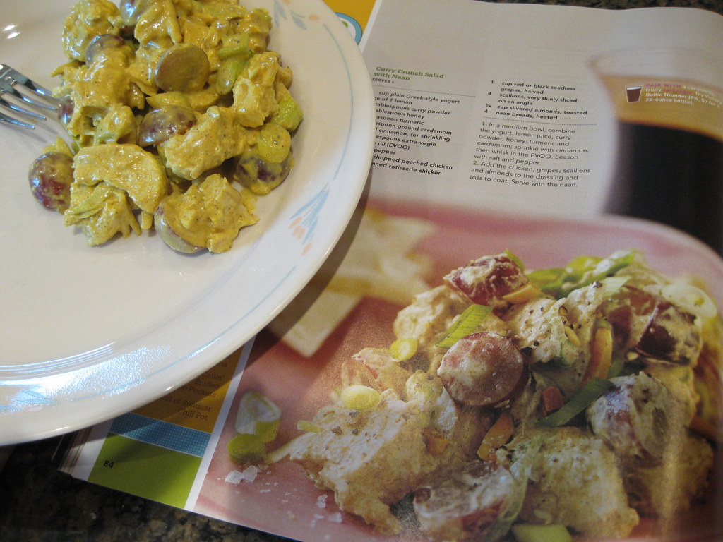 """""""Curry Chicken Salad and Naan"""" by konarheim is licensed under CC BY-NC-SA 2.0"""