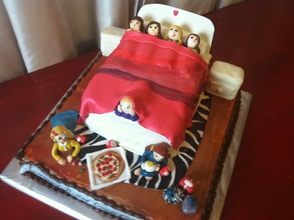 Strange Camryn Sydneys Sleepover Birthday Cake Birthday Cake Fo Flickr Funny Birthday Cards Online Inifodamsfinfo