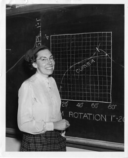 Mary Blade, standing at blackboard | by Smithsonian Institution