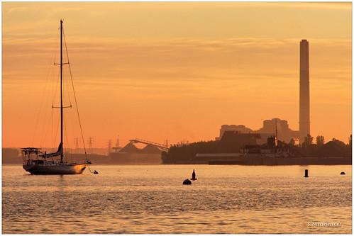 morning lake water sailboat sunrise dawn boat muskegonlake stacyniedzwiecki stacycossolini puremichigan