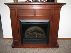 Dimplex Caprice Cherry Electric Fireplace Mantel Package