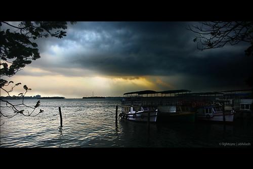 sunset multipleexposure cochi photoshoped kochi marinedrive abhilash supershot abigfave anawesomeshot lightsync