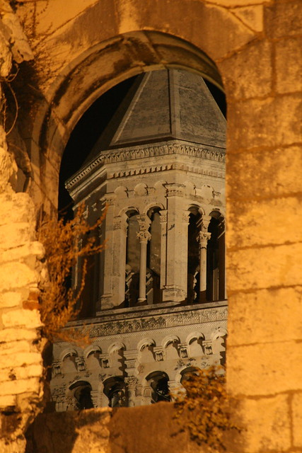Cathdral Bell Tower Seen Through Diolcetian's Palace, Split