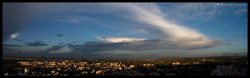 blue sunset sky panorama white clouds around pune mws baner dfc thepca soumitra aroundpune inamdar elitephotography soumitra911