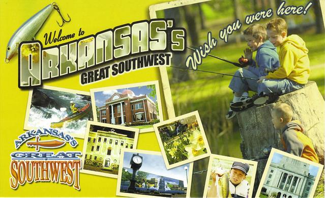 Arkansas Tourism Ad Postcard