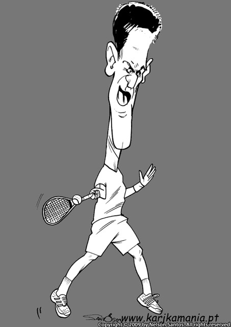Novak Djokovic Sketch Novak Djokovic Caricature Sketch Mor Flickr