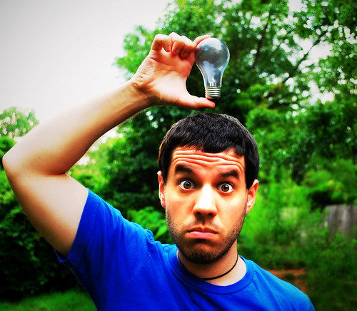 portrait selfportrait silly me lightbulb self georgia idea outdoor genius 365 stoke d60 365days nikond60 365project