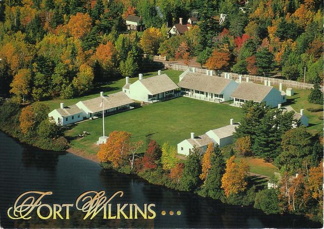 Fort Wilkins, Michigan Postcard