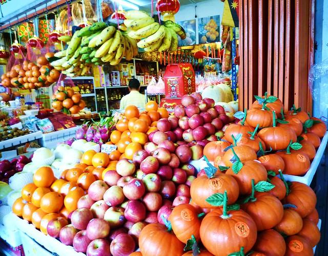 Kuching fruits stall