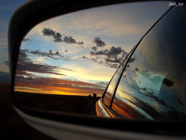 Side Mirror Sunrise - My most
