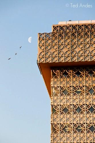 moon tower birds architecture sunrise kentucky ky sony louisville deco kaden a700 16105mm yourphototips